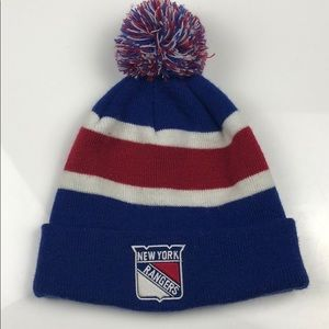 New York Rangers NHL Toque - With PomPom